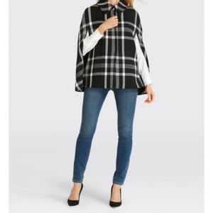 DRAPER JAMES WindowPane Cape in Black & White